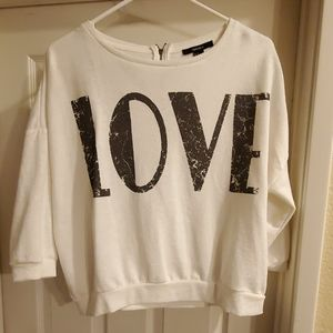 Forever 21 crop sweatshirt